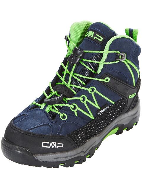 CMP Campagnolo Kids Rigel Mid WP Trekking Shoes Black Blue-Gecko